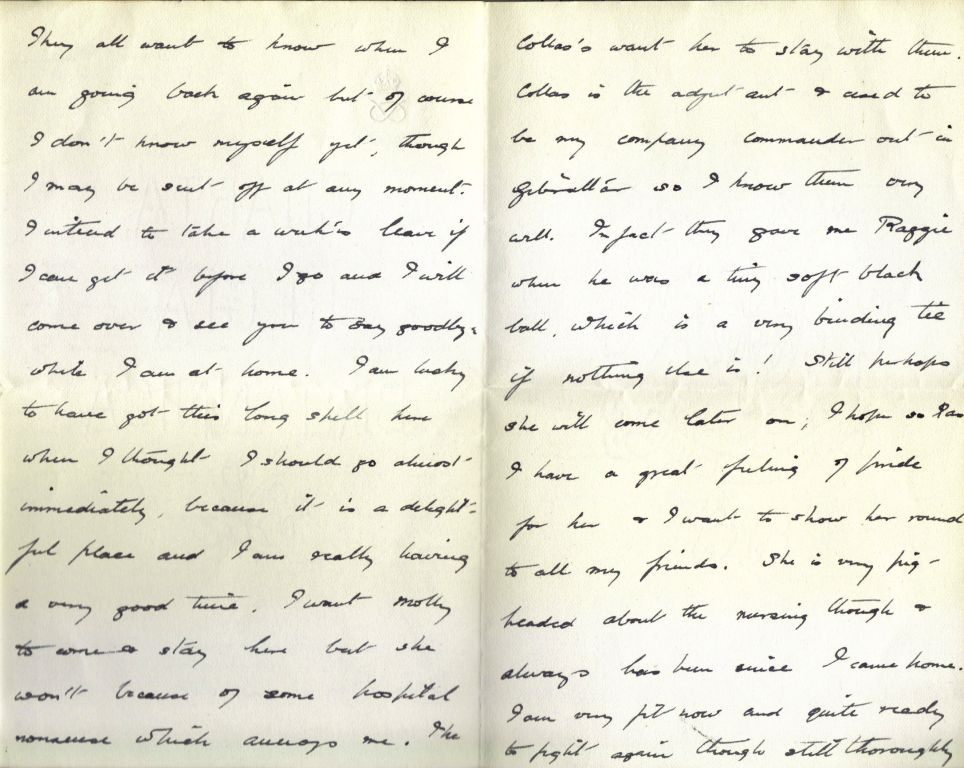 Letter from Wilmot to Aunt Nettie - Sep 1915