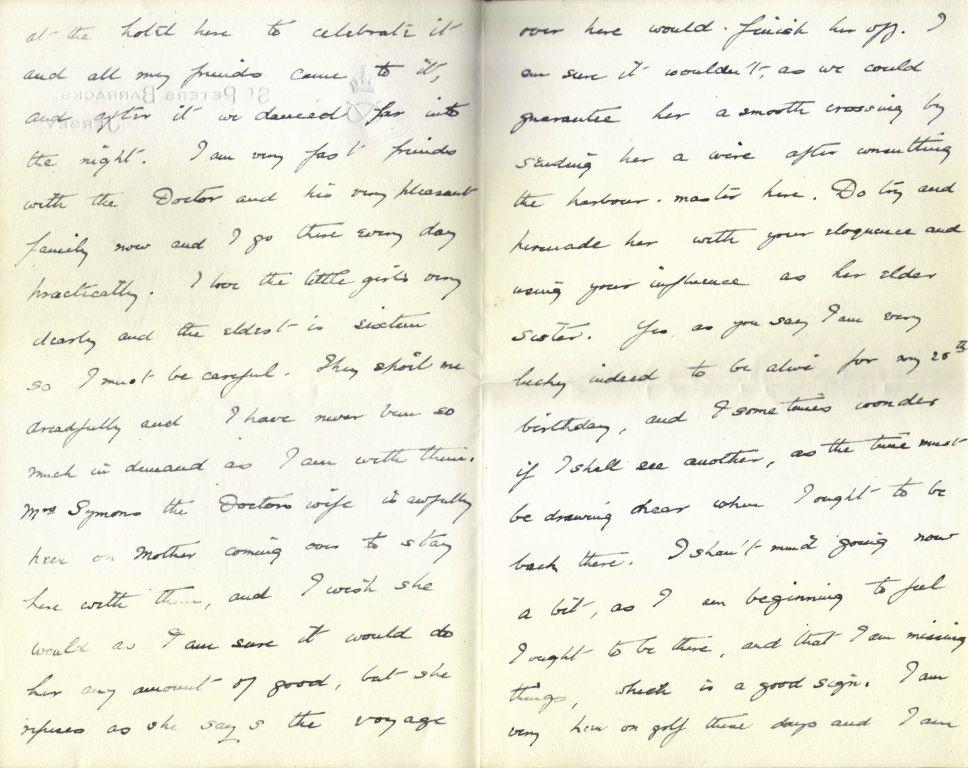 Letter from Wilmot to Aunt Nettie - Mar 1916
