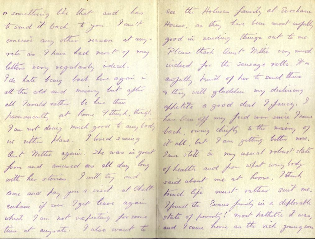 Letter from Wilmot to Uncle Teddy, Jan 1915, inner pages