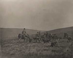Noel Downing (sitting right). Shooting at the Beacon, c. 1910