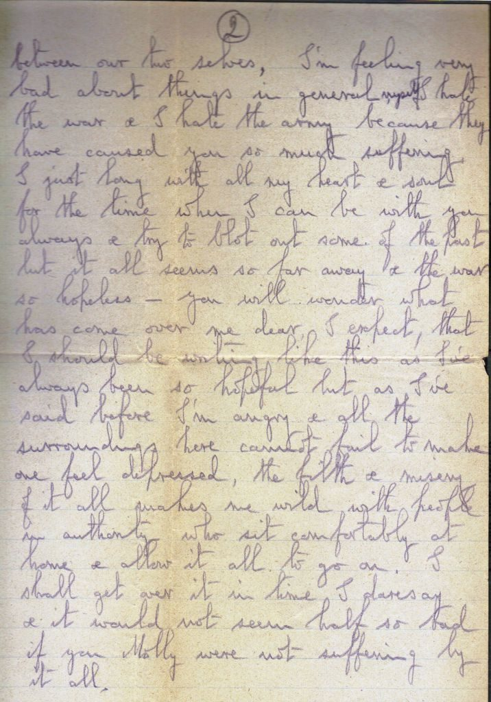 Letter from Noel Downing to Molly Evans Nov 1916