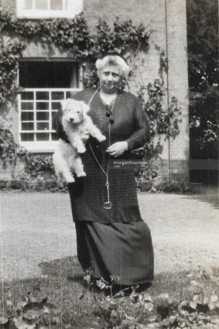 Nettie Lewis at Stoke House, Stoke-by-Clare, 1920s