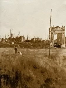 "Pictures taken on a visit to Ypres, Menin, ""No Mans Land"", Dixmude, etc. on 11 Dec 1918"