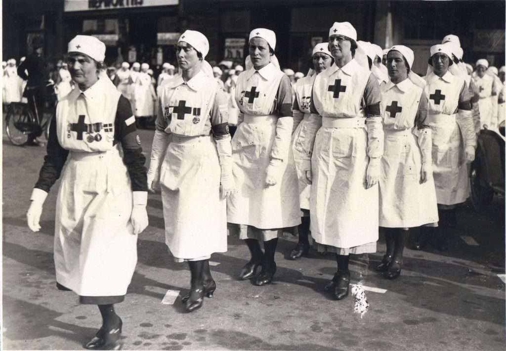 Fiffy Evans on Parade circa 1946 (presumably second from left)