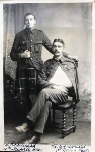 Pte Robert Lockhead and Pte Samuel Shepheard, No 2 General Hospital, Le Havre, 1916