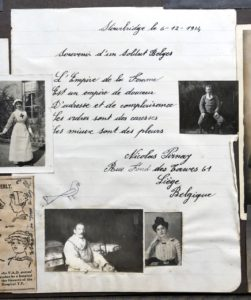 A letter from N. Pirnay, Belgian soldier, Studley Court Hospital, Stourbridge, 6 Dec 1914. Molly's photo on the left