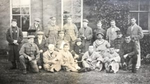 Wounded soldiers, Studley Court Hospital, Stourbridge, 1914