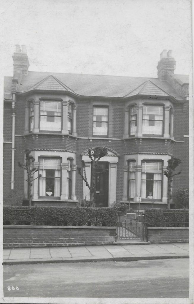 52 Selborne Road Ilford in about 1928 - Donald Morgan is at the window