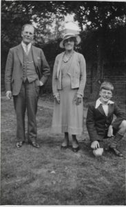William Henry Morgan, Emma Ida Morgan and Donald Cecil Morgan in about 1932
