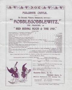 Mulgrave Castle School play flyer