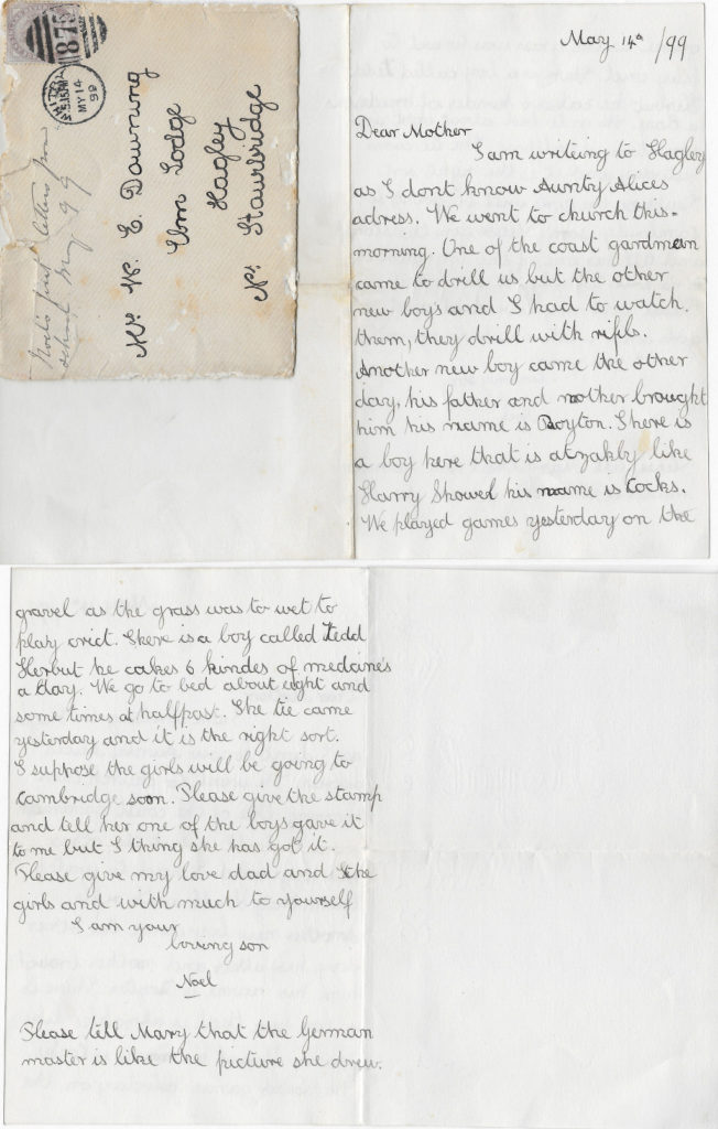 Noel's letter to his mother, Mulgrave, 14 May 1899