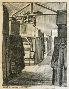 Men's sleeping quarters by E. Procter