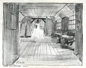 The entrance hall by E. Procter