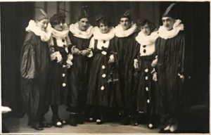 A group in costumes possibly performing at the concert mentioned in Molly's Diary