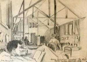 The general ward by H.A. Armitage, the Queen Alexandra Hospital, Petite Synthe, 26 May 1918