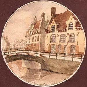 Maison du XVIe au pont Saint-Jean, Bergues by J. Dezitter