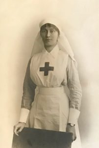 Molly Evans in VAD uniform, the Queen Alexandra Hospital, FAU, Dunkirk, 1918