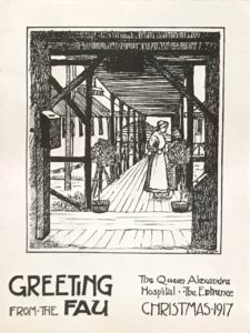 The Queen Alexandra Hospital Christmas card by A. Chandler, 1917