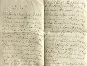 A.K. Gibbs's letter to Mary Downing (pages 2 and 3), Temple Hill, East Budleigh, Devon, 17 Nov 1917