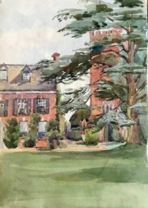 The rectory at Clyst St George by Mary Downing, c. 1908