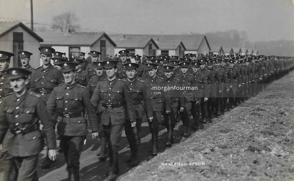 Woodcote Park Camp. Wakefield Photo, Epsom. Noel is sixth from the left in the first rank