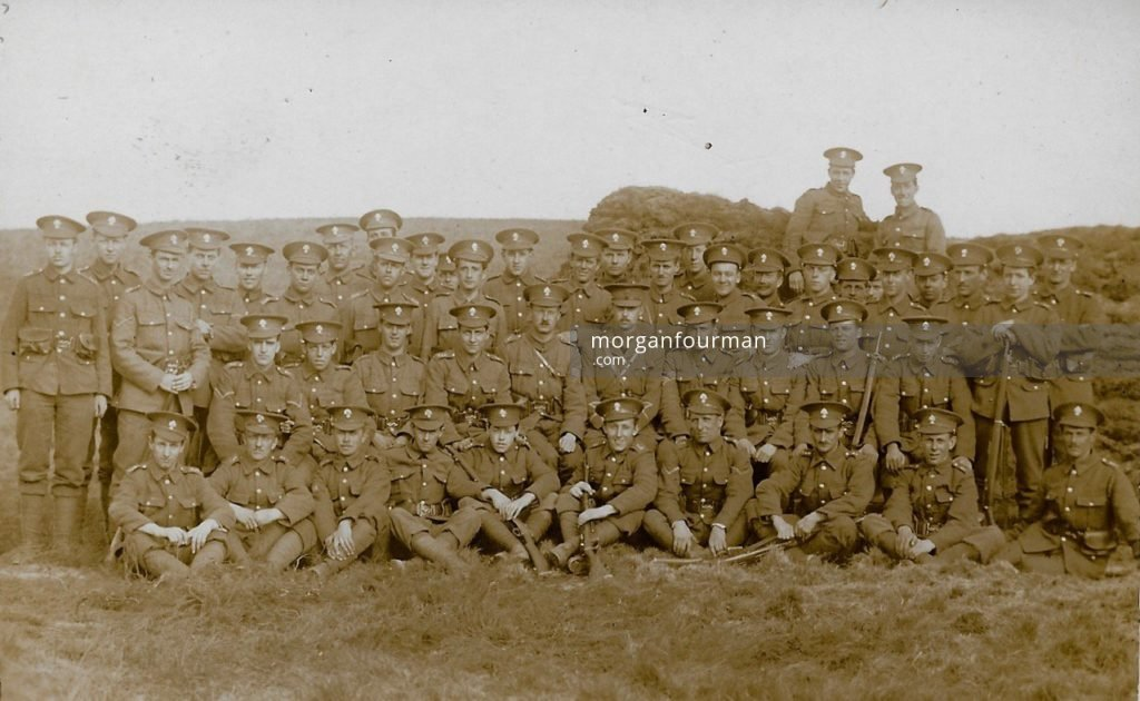 21st Battalion (4th Public Schools) Royal Fusiliers, Perham Down Camp, Tidworth, 1915. Noel is standing fifth on the left