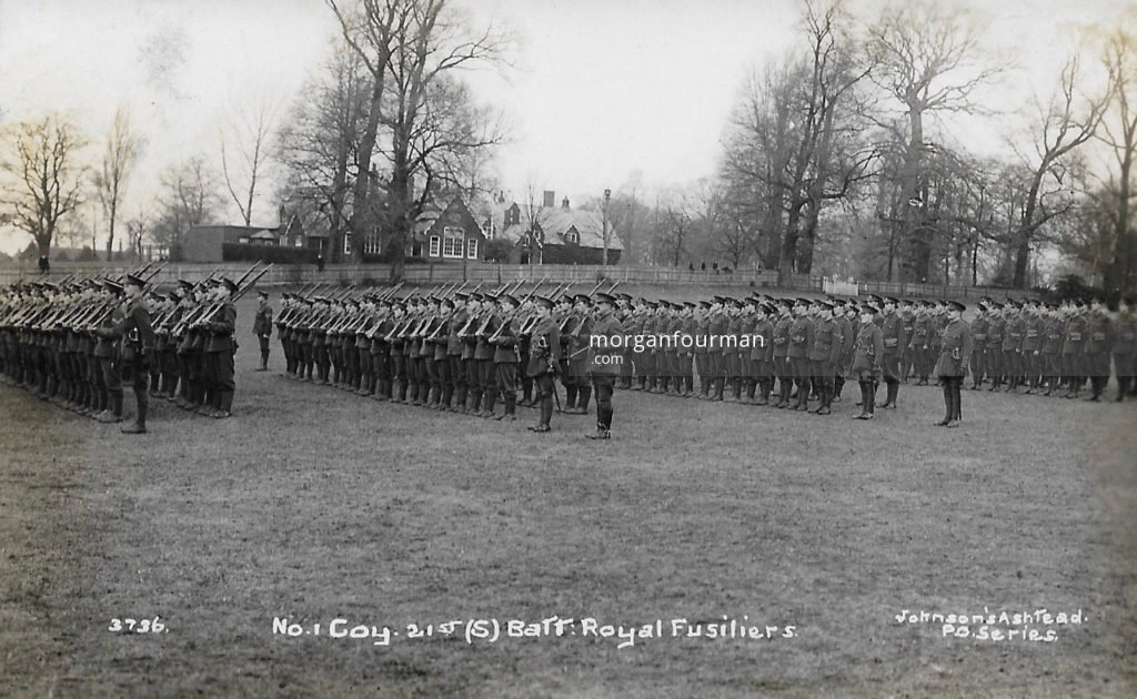 No 1 Company 21st (Schools) Battalion Royal Fusiliers. Johnson's Ashtead P.O. Series