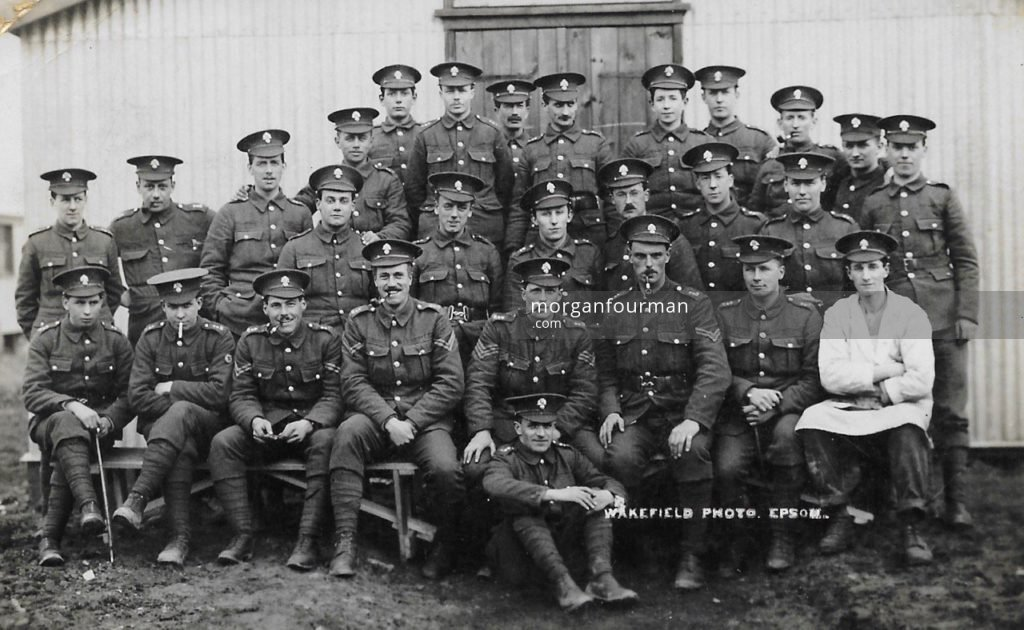 Woodcote Park Camp. Wakefield Photo, Epsom. Noel is standing third on the right