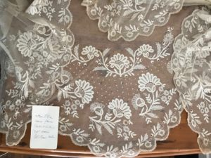 Mantilla from Taormina, a gift from Col. T.B. Shaw-Hellier to his goddaughter Molly (Constance Mary Shaw Hellier) Evans