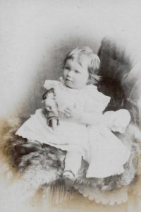Amy Loveridge, c. 1886. Photo by Mrs Williams, 63 Darlington St, Wolverhampton