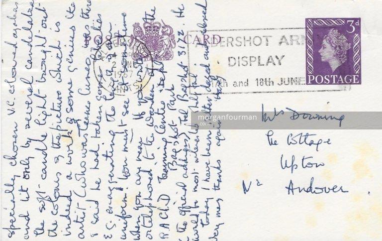 Elizabeth Hardy to Molly Evans postcard, 1 Jun 1967, p. 2