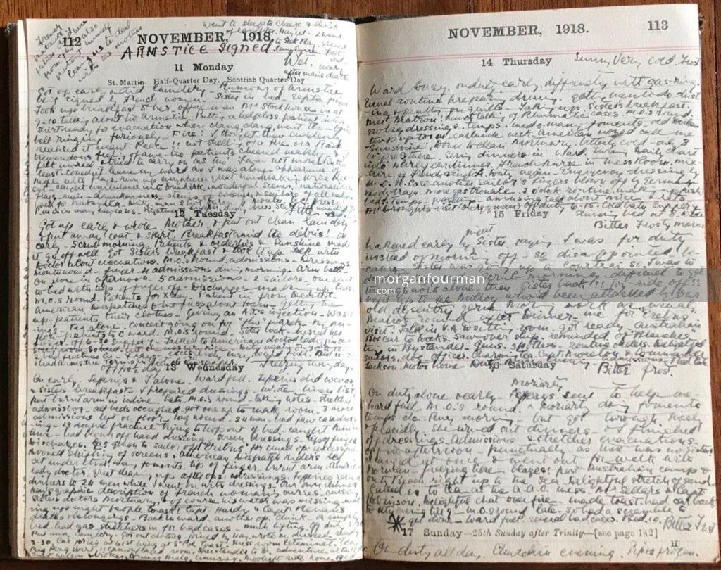 Molly Evans's Diary, 11-16 Nov 1918