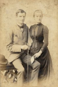 Walter and Constance Loveridge, c. 1888. Photo by Martin Jacolette, 1 Priory Hill, Dover