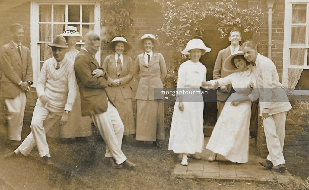 After a picnic, 14 Aug 1915. Wilmot is fourth on the left