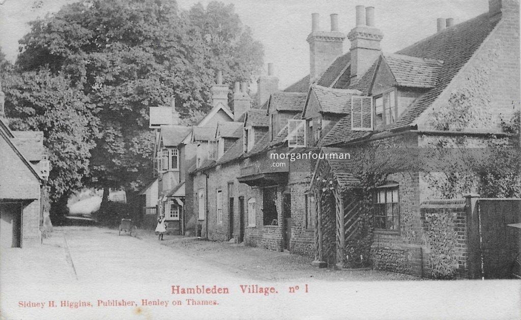Hambleden Village. Postcard by Sidney H. Higgins, Henley on Thames. From Molly Evans' Collection (postmarked Jul 1905)