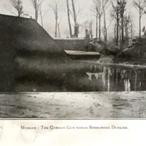 The German gun which bombarded Dunkirk