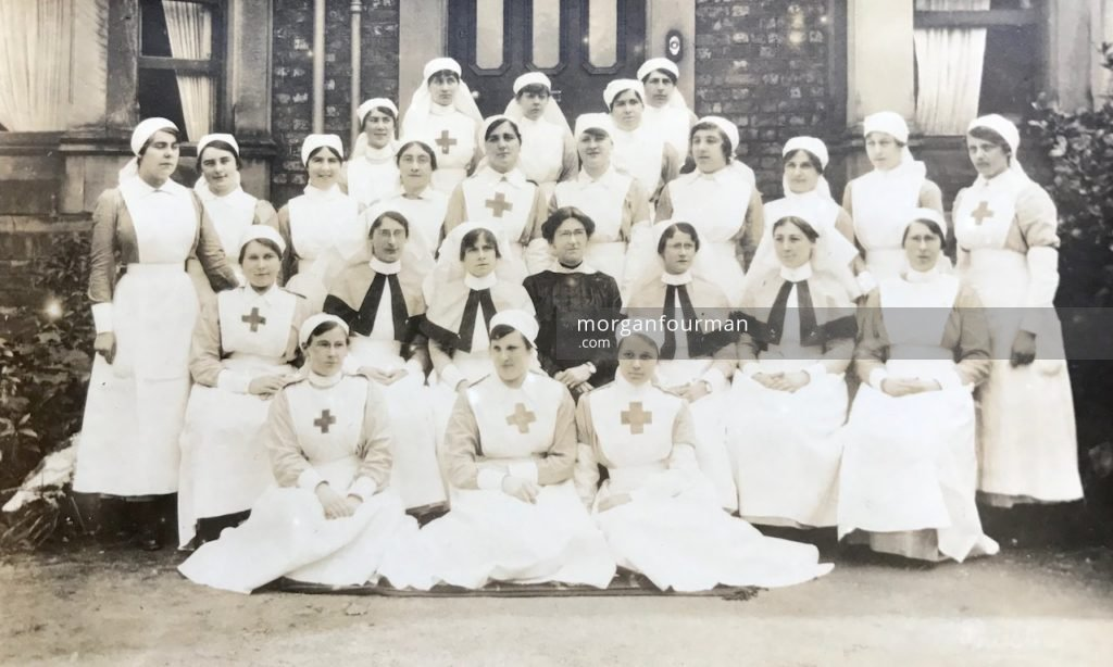 The First Western General Hospital, Birkenhead, 1917. Top row from left: Ashlin, Molly and Molloy