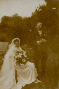 Noel and Molly Downing wedding, 29 Jul 1919
