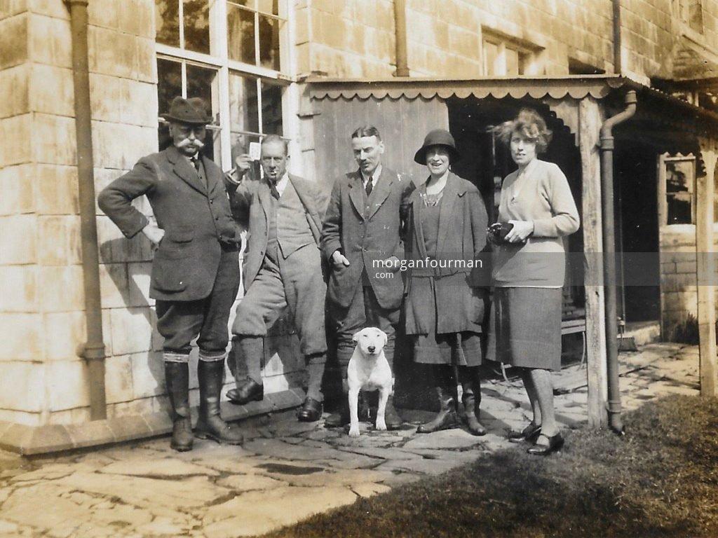 W.E., Noel (third left), Molly and Mary Downing. Beacon Lodge, 1920's