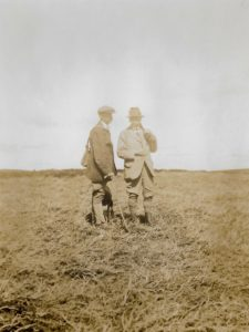 W.E. Downing (right), Beacon Lodge, 1920s