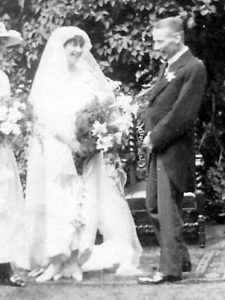 Noel and Molly Downing on their Wedding Day, 29 Jul 1919