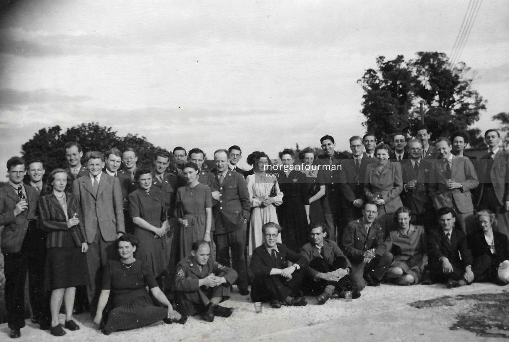 Photo 3. VE Day Celebration, Hut 6, Bletchley Park, 1945