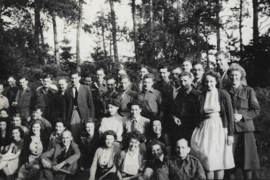 Hut 6 Picnic & Rounders in Brickhill Woods, Summer 1945