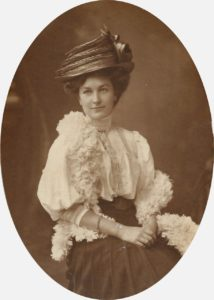 Edith Mathews (identified on rear and dated Xmas 1908)
