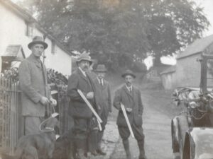 Ratlinghope, c. 1917; TLD and WED (middle two)