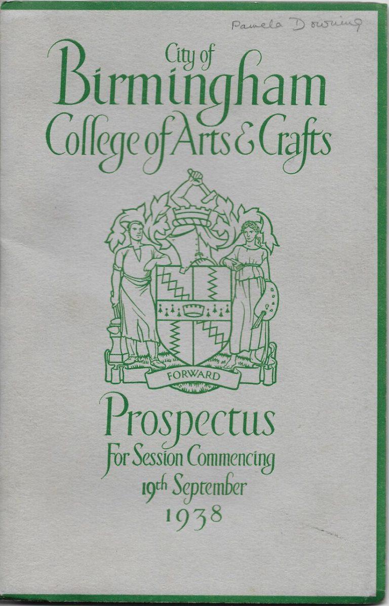 City of Birmingham College of Arts and Crafts Prospectus 1938