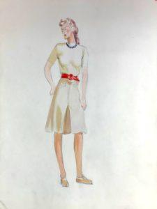 Pamela Downing dress designs, 1941