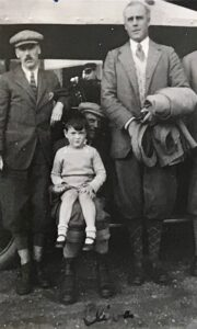 Noel Downing, Andrew and Clive Pinsent and Bernard Docker, Edinglassie, Sep 1927