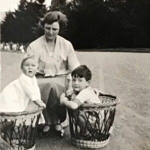 Kathleen, Jim and Andrew Pinsent, Edinglassie, Sep 1927