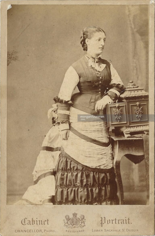 Lady Frances Talbot-Power (née Segrave), c. 1880. Photo by Chancellor, 55 Lower Sackville Street, Dublin